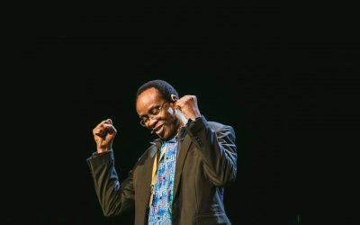 Nnimmo Bassey speaks at the Elevate Festival 2019 Opening Show
