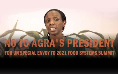 Call to Revoke AGRA's Agnes Kalibata as Special Envoy to 2021 UN Food Systems Summit