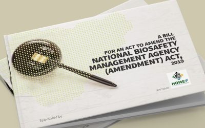 A Bill for an ACT to amend the National Biosafety Management Agency (Amendment) ACT, 2019